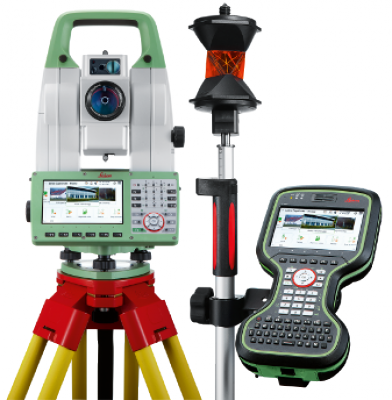 leica ts16i r500 robotic imaging total station with cs20