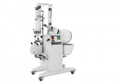 Buchi Rotavapor R-250 EX T3 Large-Scale Rotary Evaporator D2-Double Reflux Descending 20L Evaporating Flask With Outlet Suction Dual Receiving Flask 2 x 20L