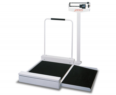 Detecto 4951 Mechanical Wheelchair Scale W/180 Kg Capacity