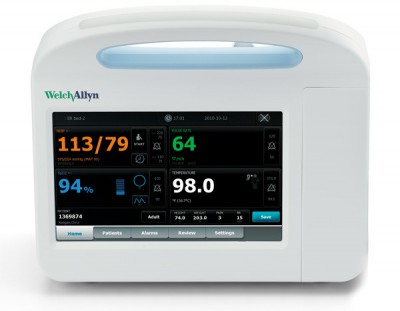 Welch Allyn Connex VSM 6400 Patient NIBP Monitor w/ Nellcor Sp02, Braun PRO 4000 and Printer (64NXPE-B)