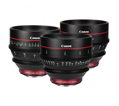 Canon Cinema Prime 3 Lens Kit