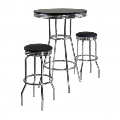 Furniture Rental Package - 36 inch Bar Table with 2 Bar Stools