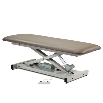 CLINTON OPEN BASE POWER TABLES W/ 450 LB. WEIGHT CAPACITY with Laminate Leg Rest