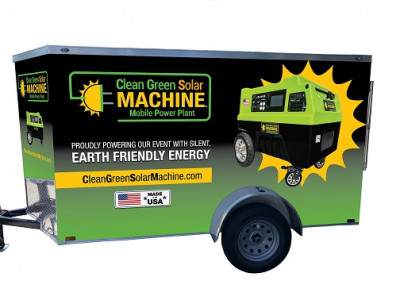 Clean Green Solar Machine (24kWh self recharging) Mobile Power Plant
