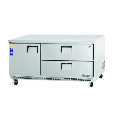 Everest ETBR3-D2 3 Section 1 Door & 2 Drawer Combo Undercounter Refrigerator, 71 1/2in.