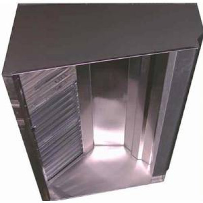 Superior Hoods 6 Ft Restaurant Grease Hood System w Make Up Air , Exhaust Fan & Curbs