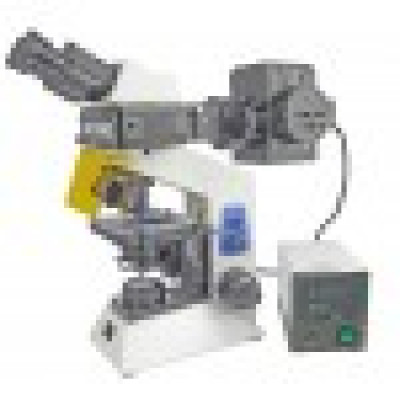 UNICO G506 SERIES EPI-FLUORESCENCE MICROSCOPE W/ INCIDENT 100W MERCURY ILLUMINATOR AND POWER SUPPLY