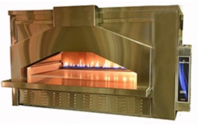Zesto 309SS-OB Open Gas Deck Oven with Brick Lining