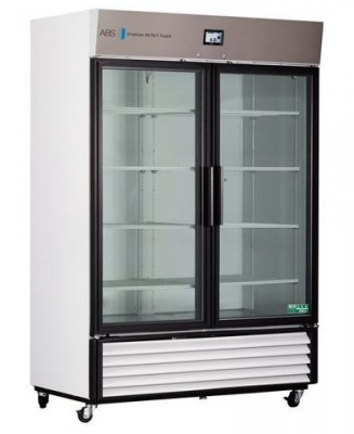 American BioTech Supply TempLog Premier Laboratory Glass Door Refrigerator (49 cu ft)