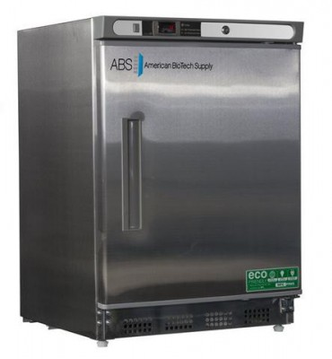 American BioTech Supply Premier Undercounter Stainless Steel Refrigerator (Left Hinge)