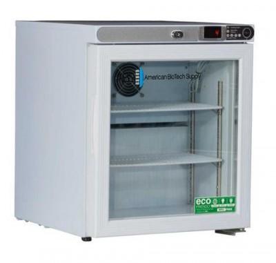 American BioTech Supply Premier Undercounter Refrigerator (1 cu ft) (Glass Door) (Left Hinge)