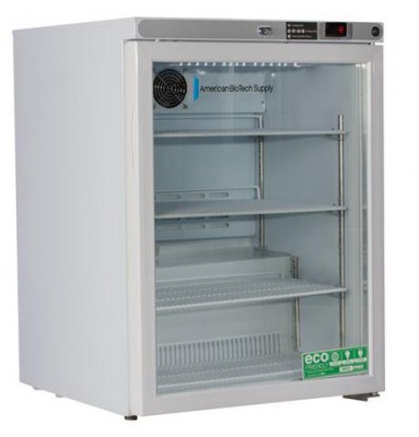 American BioTech Supply Premier Undercounter Refrigerator (5.2 cu ft) (Solid Door) (Right Hinge)
