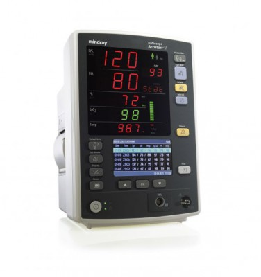 Mindray Datascope Accutorr V Vital Signs Monitor with Roll Stand