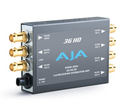 AJA 3GDA 1x6 3G/HD/SD Amplifier