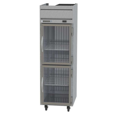Beverage-Air Horizon HFS1-1HG 2 Half Glass Door Top Mount Reach-In Freezer | 21.06 Cu. Ft.