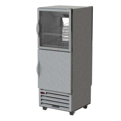 Beverage-Air RID18HC-HGS 2-Half Solid Doors Bottom Mount Pass-Thru Refrigerator | 18.38 cu ft