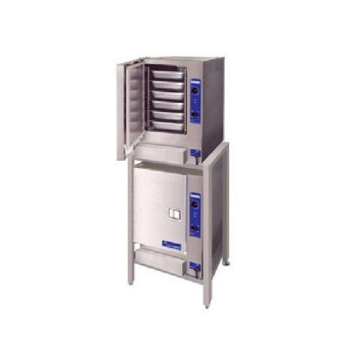 Cleveland SteamChef 6 22CGT66.1 Double Stacked 6 Pan Each Gas Floor Model Steamer | 64,000 BTU