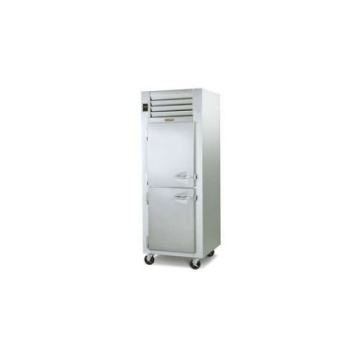 Traulsen Dealer's Choice G10001 2-Half Solid Doors Top Mount Reach-In Refrigerator | 24.2 cu ft
