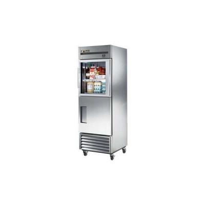 True TS-23-1-G-1-HC~FGD01 2-Half Glass/Solid Doors Bottom Mount Reach-In Refrigerator (Left Hinged)