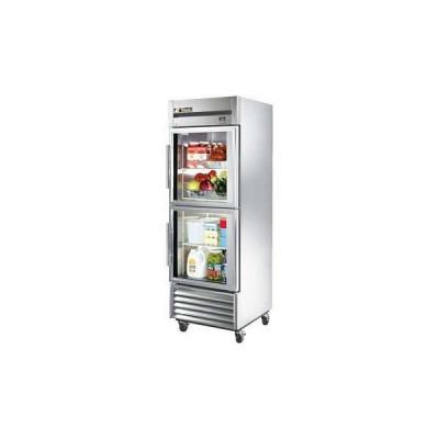 True TS-23G-2-HC~FGD01 2-Half Glass Doors Bottom Mount Reach-In Refrigerator (Left Hinged)
