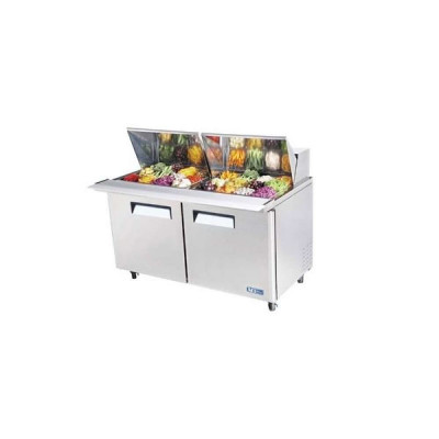 Turbo Air MST-60-24-N 2-Door Refrigerated Sandwich Prep Tables | (24) 1/6 Pan