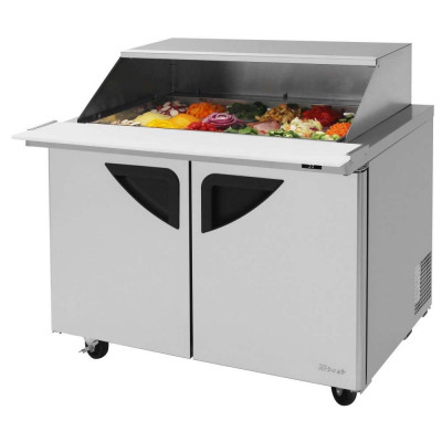 Turbo Air TST-48SD-18-N-SL Refrigerated Counter Mega Top Sandwich / Salad Unit | (18) 1/6 Pans