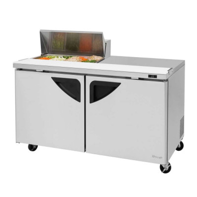 Turbo Air TST-60SD-08S-N 2-Door Refrigerated Counter Sandwich / Salad Unit | (8) 1/6 Pans