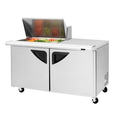 Turbo Air TST-60SD-12M-N 2-Door Refrigerated Counter Mega Top Sandwich / Salad Unit | (12) 1/6 Pans