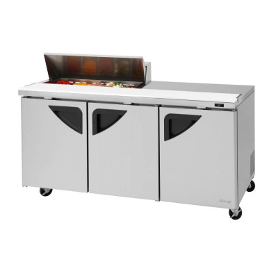 Turbo Air TST-72SD-10S-N 3-Door Refrigerated Counter Sandwich / Salad Unit | (10) 1/6 Pans