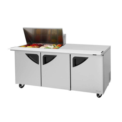 Turbo Air TST-72SD-15M-N Refrigerated Counter Mega Top Sandwich / Salad Unit | (15) 1/6 Pans