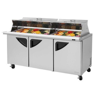 Turbo Air TST-72SD-30-N-DS Refrigerated Counter Mega Top Sandwich / Salad Unit | (30) 1/6 Pans