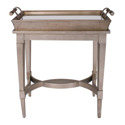 Bordeaux Mirrored End Table