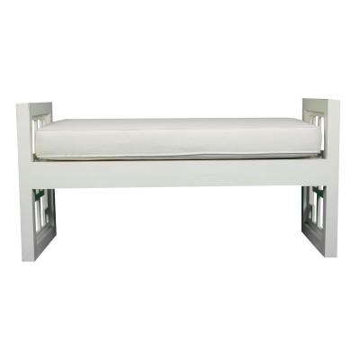 White Cut Out Bench