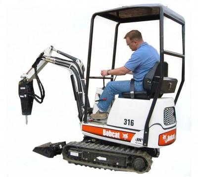 Bobcat Mini Excavator 316 5' Depth