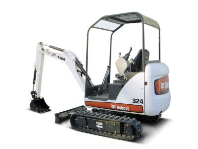 Bobcat 324 Mini Excavator 8' Depth