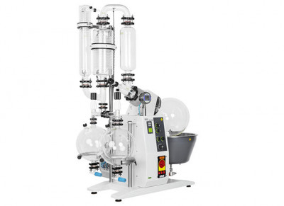 Buchi Rotavapor R-220 EX T4 230V Large-Scale Rotary Evaporator D-2 Descending with Secondary Condenser 10L Drying Flask 2 Dual Receiving Flasks 2 x 10L