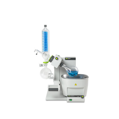 Buchi Rotavapor R-300 with 1L Water Bath Rotary Evaporator Manual Lift Vertical (V) Glass Assembly SJ 29/32 joint with safety coating (P+G)