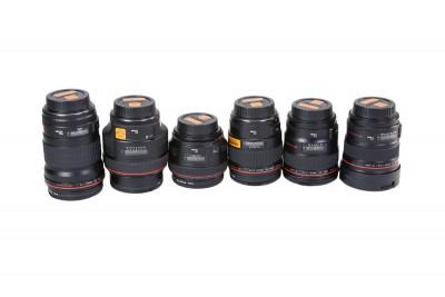 Canon L Series Prime Lens Set of 6