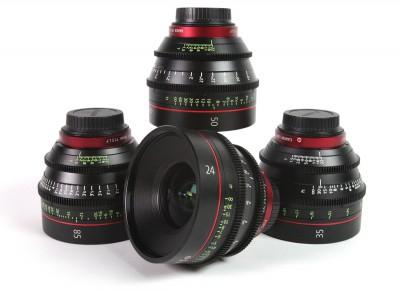 Canon Cinema Primes Lens Package