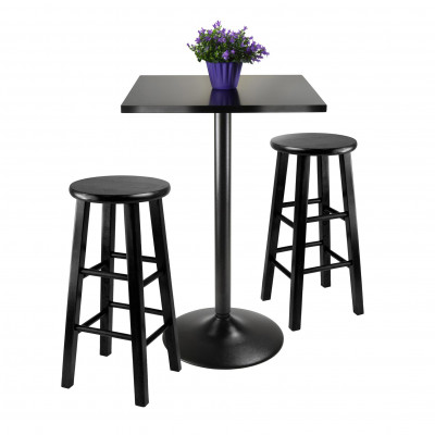 Furniture Rental Package - 24 inch Bar Table with 2 Bar Stools