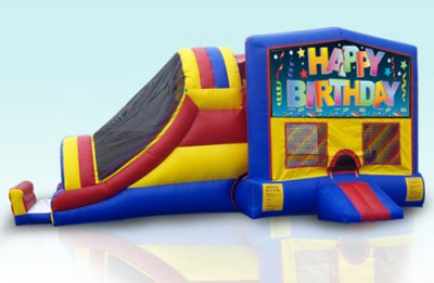 Jump and Slide Themed Combo Bouncer