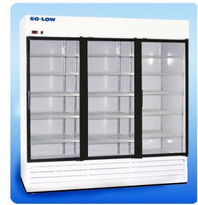 So-Low Laboratory and Pharmacy Refrigerator - White Coated Steel (3 Sliding Glass Doors) (66 cu ft)