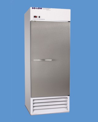 So-Low Laboratory and Pharmacy Refrigerator - White Coated Steel (Single Solid Door) (27 cu ft)
