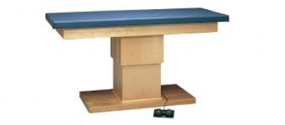 FEI 15-1231 Electric Hi-Lo Upholstered Treatment Table W/Adjustable Back And Shelves, 30