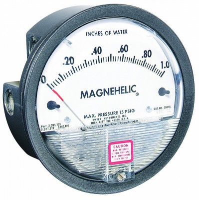 Dwyer Magnehelic Series 2000 Differential Pressure Gauge