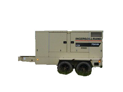 Ingersoll Rand 75kw silent diesel generator trailer