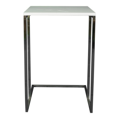 "White ""C"" End Table"