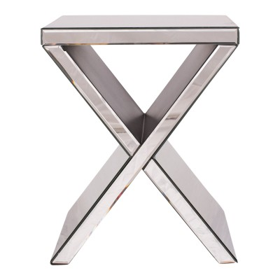 "Mirrored ""X"" End Table"