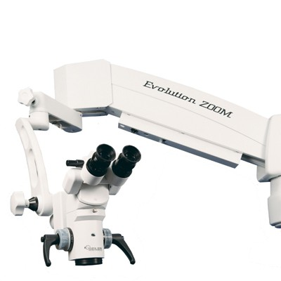 Seiler Evolution Zoom FL w/ Powered XY Surgical Microscope with ZOOM BeamSplitter and 3D Assistant Observer
