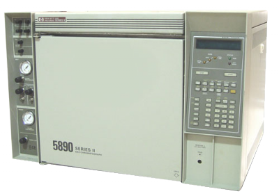 Hewlett Packard 5890 Series II Plus Gas Chromatograph Dual injectors and dual detectors with EPC